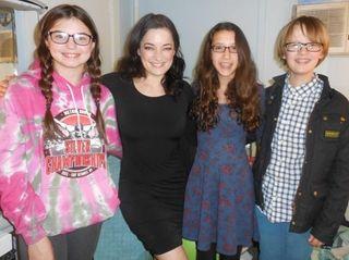 Kidsday reporters Gabriella Osborn, Talia Albukrek, and Wells