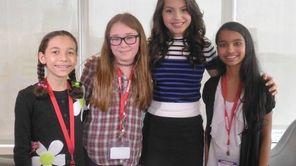 Kidsday reporters Nora Kirthnitz, Sarah Katzman and Karthika