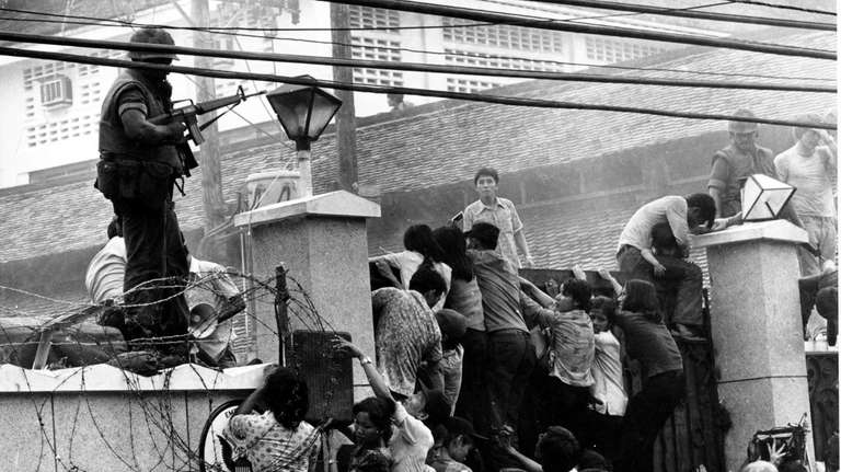In this April 29, 1975 file photo, mobs