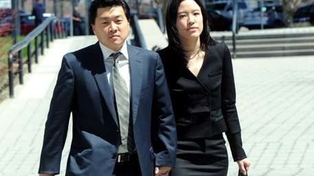 Jsson Lee arrives at Suffolk County Court in