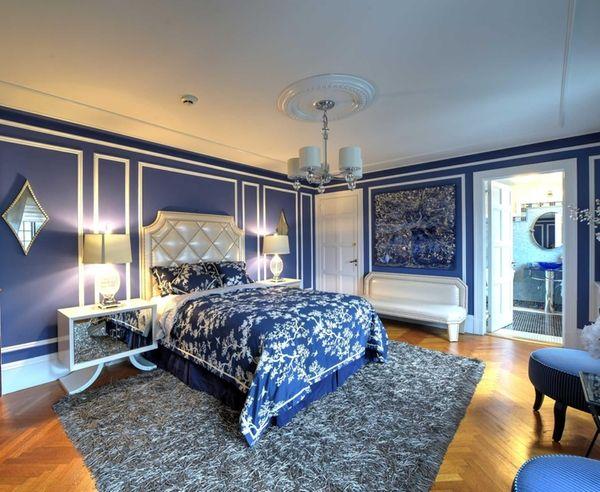 The Rhapsody in Blue bedroom designed by New