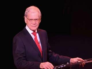 David Letterman speaks on stage at SeriousFun Children's