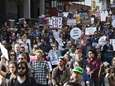 Protesters march Wednesday, April 29, 2015, in Baltimore.