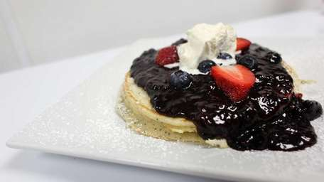 The voodoo berry pancakes — tender, fluffy lemon