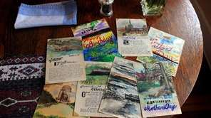 A selection of watercolors painted by Stan Brodsky,