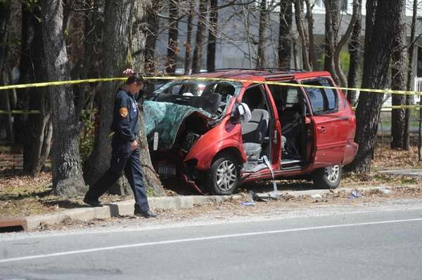 Police at the scene of a serious car