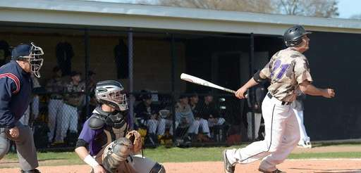 Sayville's Brian Burgow watches his long fly ball