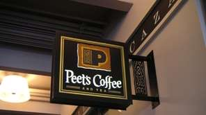 A Peet's Coffee & Tea sign.