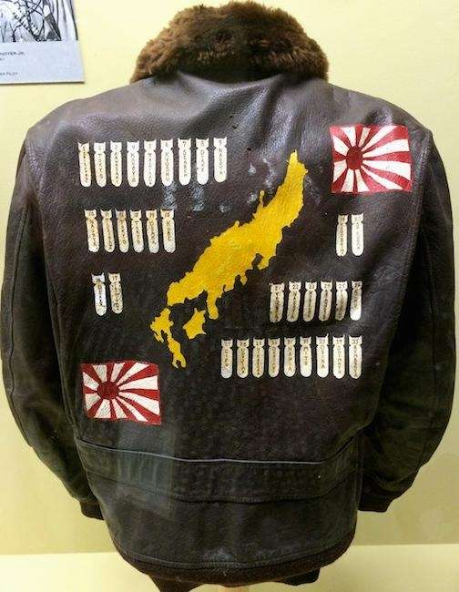A bomber jacket worn by World War II
