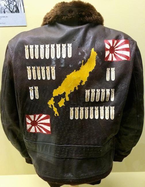 A bomber jacket worn by World War II