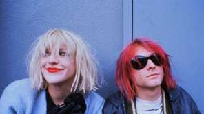 Courtney Love and Kurt Cobain in 1992.