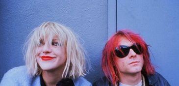 Courtney Love and Kurt Cobain in 1992.