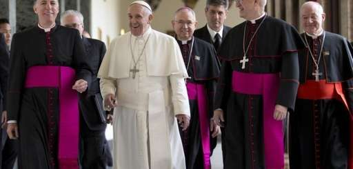 Pope Francis arrives at Rome's Pontifical North American