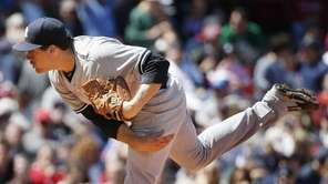 Nathan Eovaldi pitches during the first inning of