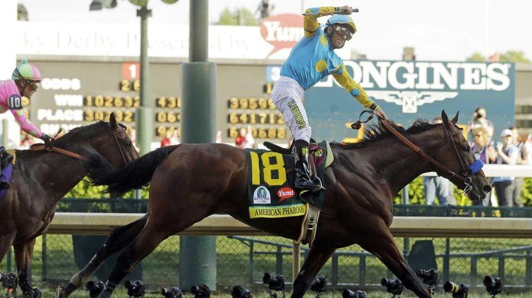 Victor Espinoza rides American Pharoah to victory in
