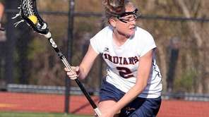 Manhasset's Erin Barry looks for a shot against