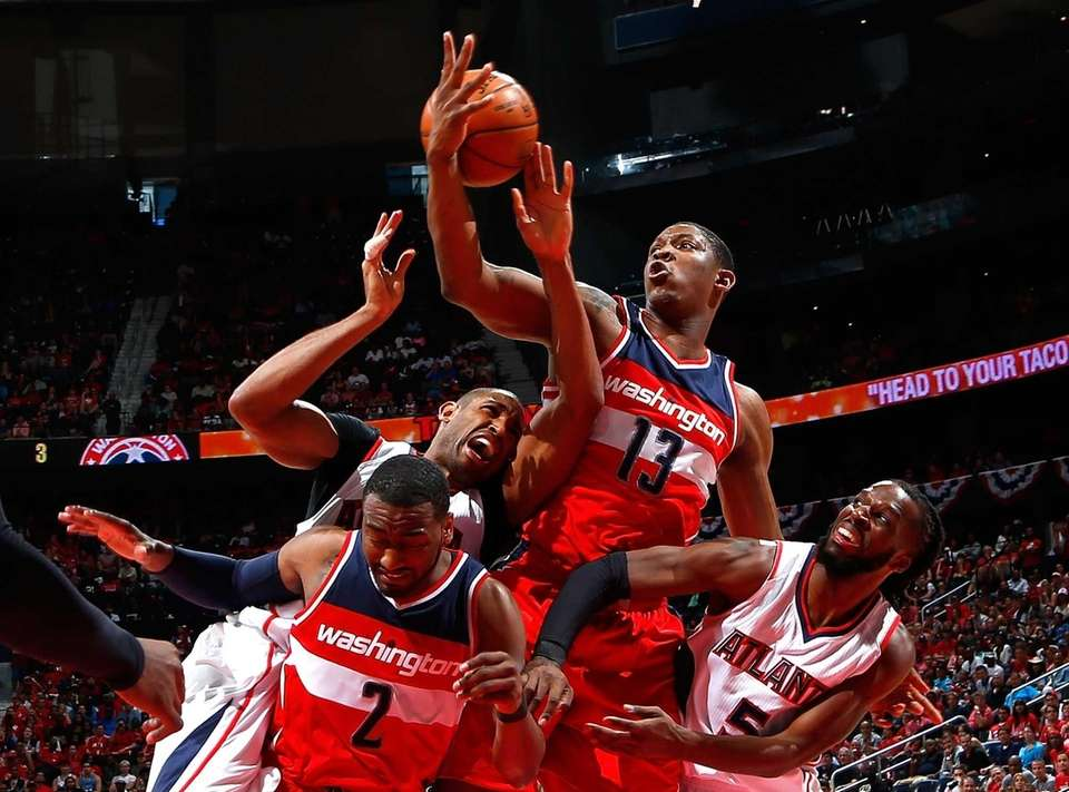 John Wall #2 and Kevin Seraphin #13 of