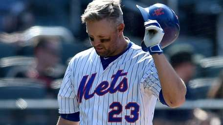 Michael Cuddyer strikes out in the bottom of