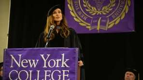Commencement Speaker Carol Alt speaks during the Commencement