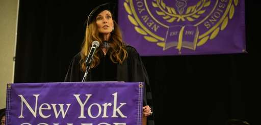 Model and actress Carol Alt speaks during the