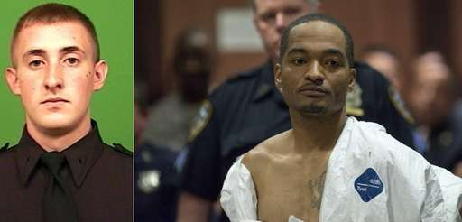 Demetrius Blackwell, right, appears in court in Queens