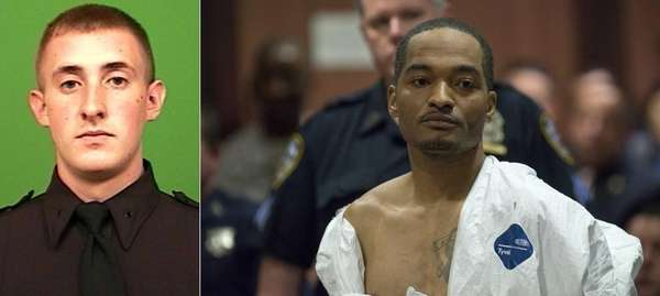 Demetrius Blackwell, right, appears in Queens Criminal Court
