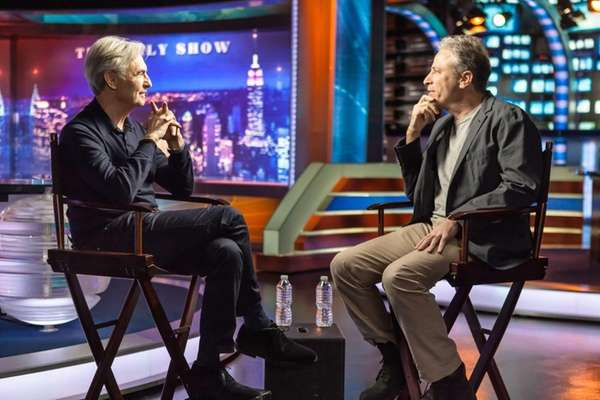 David Steinberg, left, and Jon Stewart in