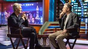 "David Steinberg, left, and Jon Stewart in ""Inside"