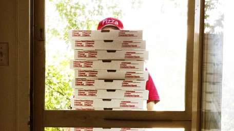 A pizza delivery persons pay is a combination