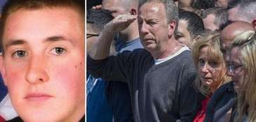 (L-R) NYPD Officer Brian Moore. His father, at