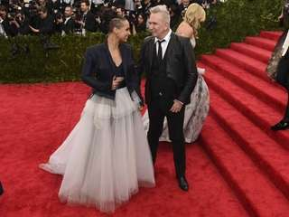 Alicia Keys and Jean Paul Gaultier arrive at