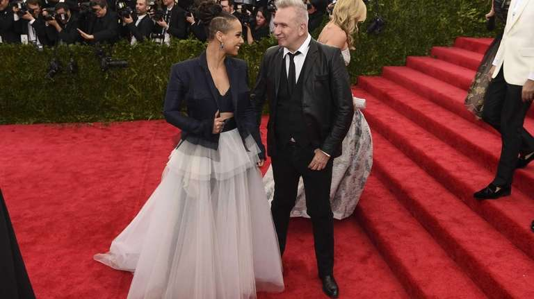 Alicia Keys and Jean Paul Gaultier arrive for