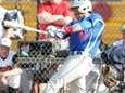 Division's Ronmel Ocampo hits a double during a