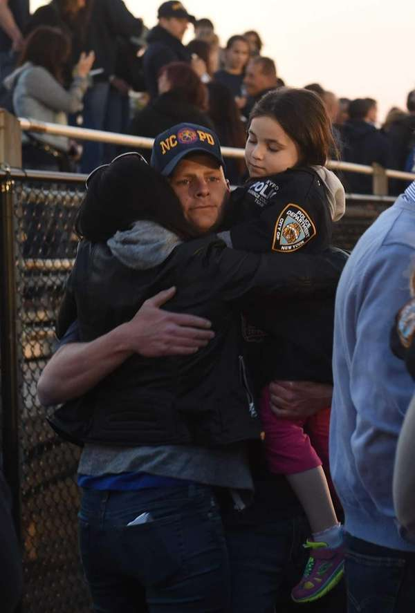 Family and friends of slain NYPD Police Officer