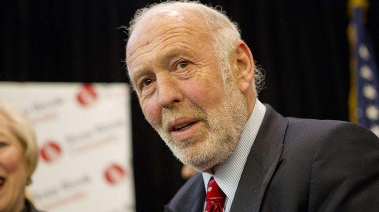 James Simons, who founded East Setauket-based Renaissance Technologies,