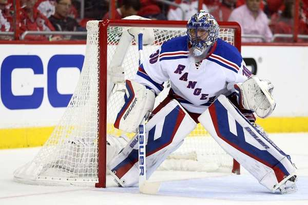 Rangers goalie Henrik Lundqvist against the Washington Capitals