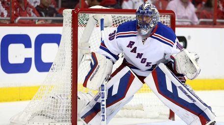 Rangers goalie Henrik Lundqvist against the Washington Capitals