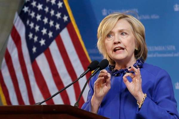 In this April 29, 2015 file photo, Hillary