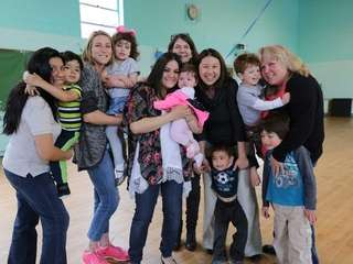 A group of participants at a Mother's Center