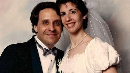 Howard and Lauren Lev on their wedding day,