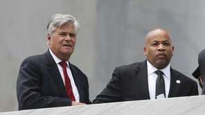 Senate Majority Leader Dean Skelos (R-Rockville Centre), left,