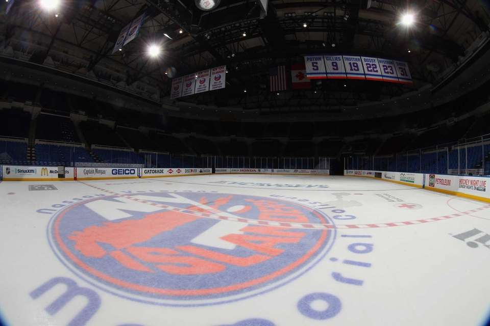 A general view of Nassau Coliseum before the
