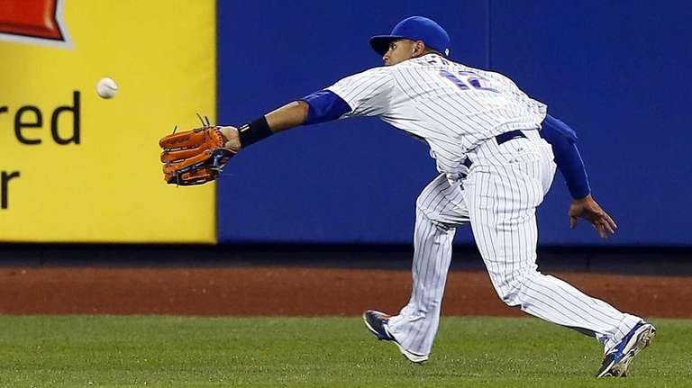 Juan Lagares #12 of the New York Mets