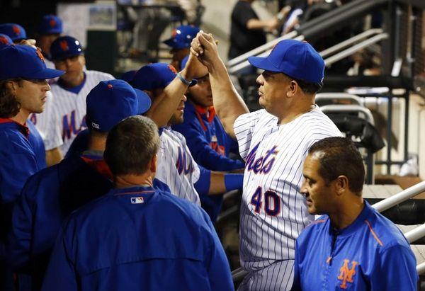Bartolo Colon of the New York Mets walks