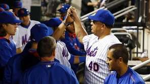 Bartolo Colon of the New York Mets walks