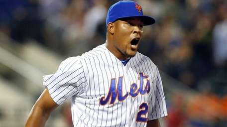 Jeurys Familia of the New York Mets celebrates