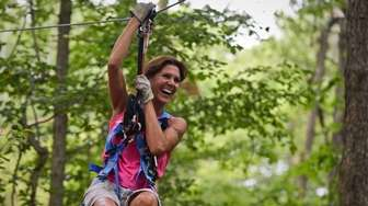 Adventurous moms can zip line for free, with