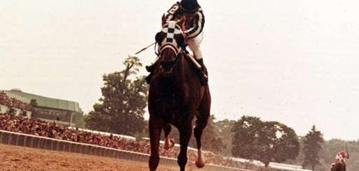 Ron Turcotte rides Secretariat to a win by