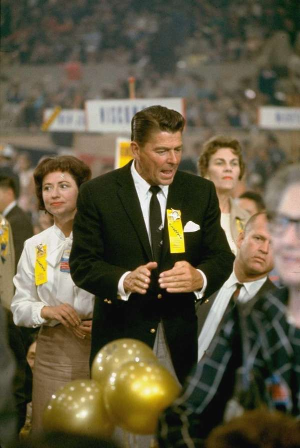Ronald Reagan at the 1964 Republican National Convention.