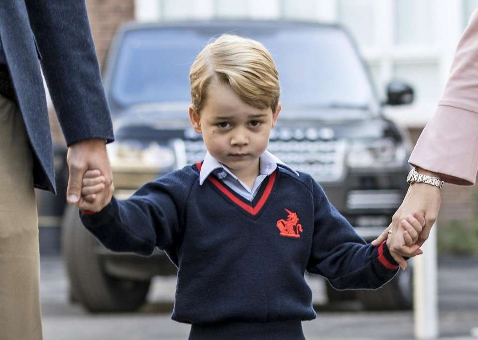 Third heir: Prince George of Cambridge, born July
